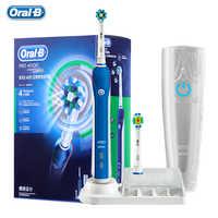 Cepillo de dientes eléctrico ultrasónico B Oral Pro4000 3D blanqueador de dientes recargable para adultos