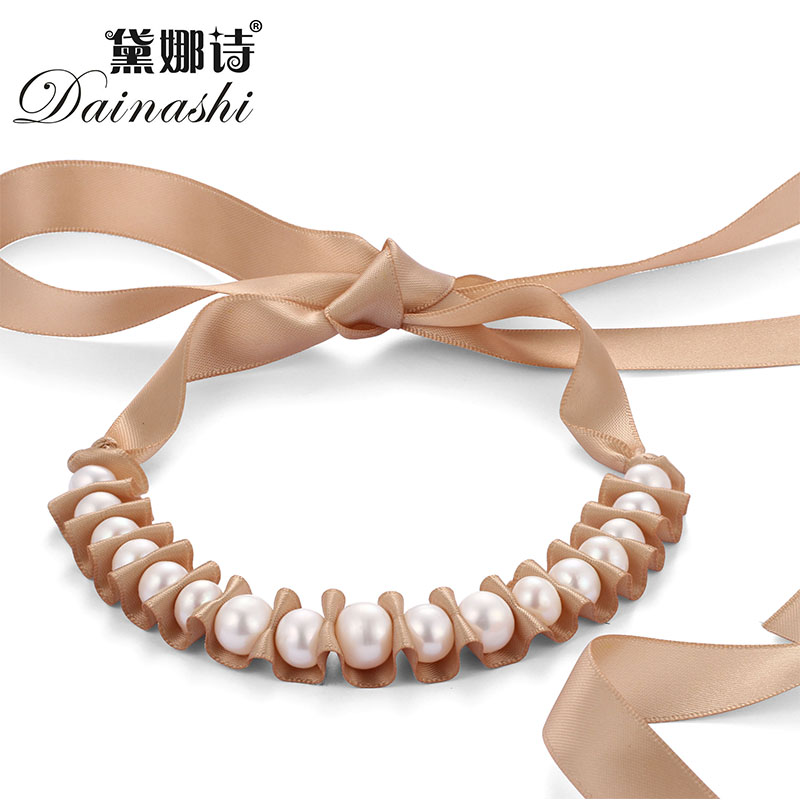 dainashi real freshwater natural pearl necklace women fine. Black Bedroom Furniture Sets. Home Design Ideas