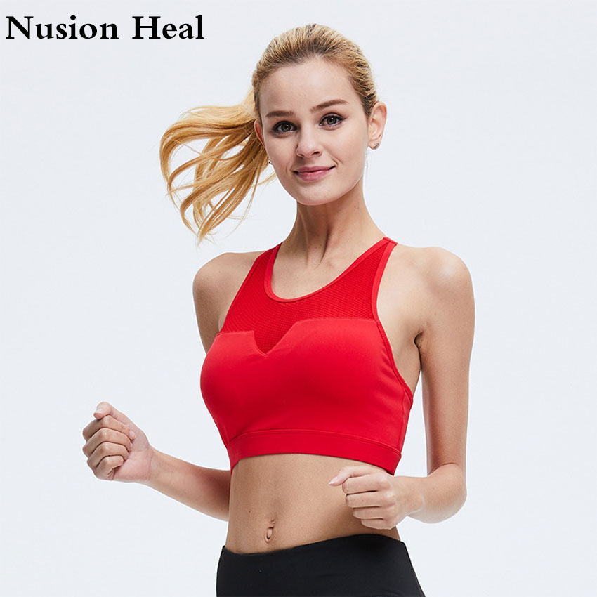 New Women Cross Design Sports Bra Push Up Shockproof Vest Tops with Padding for Running Gym Fitness Jogging Yoga Shirt Tanks Top