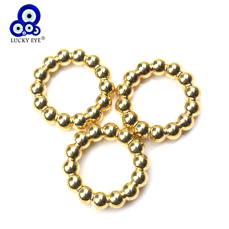Jewelry & Accessories Aggressive Lucky Eye 20pcs/lot Plastic Spacer Beads Rings For Bracelets Necklace Findings Circle Ring Jewelry Making Accessories Ey1345 Moderate Price