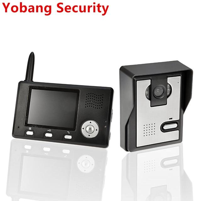 "Yobang 보안 freeship 2.4 ghz 3.5 ""tft 무선 비디오 도어 폰 인터폰 초인종 홈 보안 1 카메라 1 모니터 초인종"