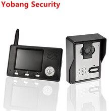 """Yobangセキュリティfreeship 2.4 ghz 3.5 """"tftワイヤレスビデオドア電話インターホンドアベルホームセキュリティカメラ1モニタードアベル"""