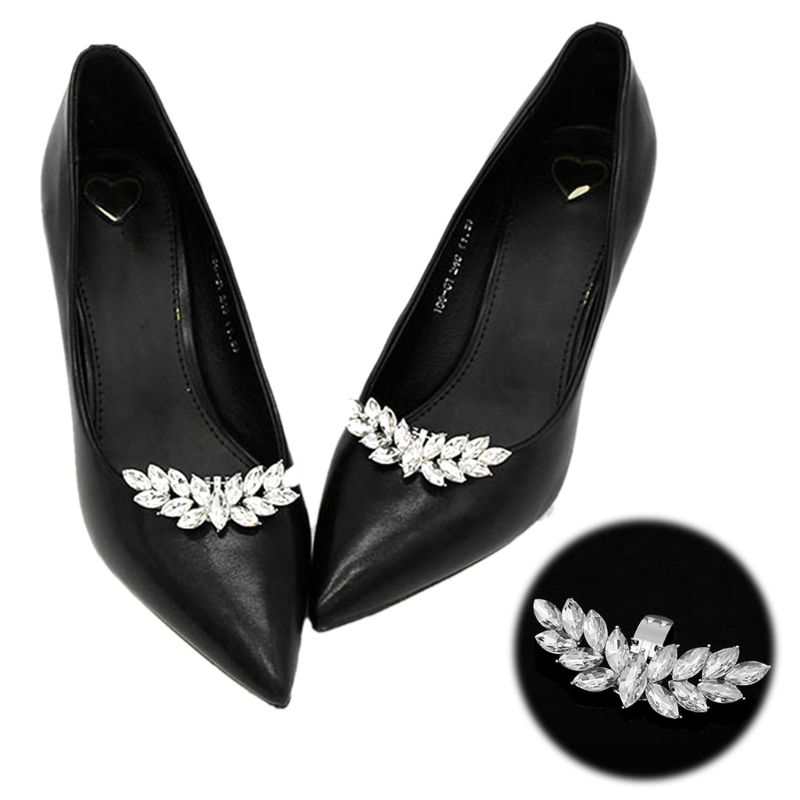 1pcs Rhinestone DIY Shoe Clip Charms Women Wedding Fashion High Heels Buckle Decoration