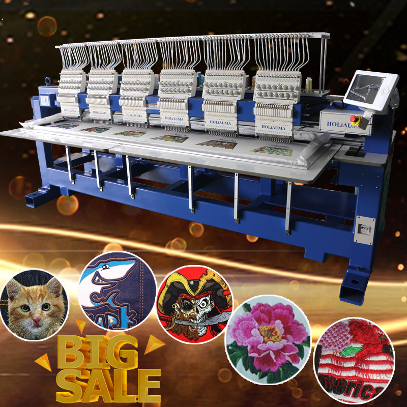 HO1506 New Condition Automatic 6 Heads Computer Embroidery Machine Like Tajima/brother/happy Embroidery Machine For Cap/tshirt