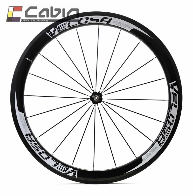 купить Velosa super sprint 50 bike carbon front wheel, 700C 50mm clincher/tubular road bike wheel по цене 11891.4 рублей