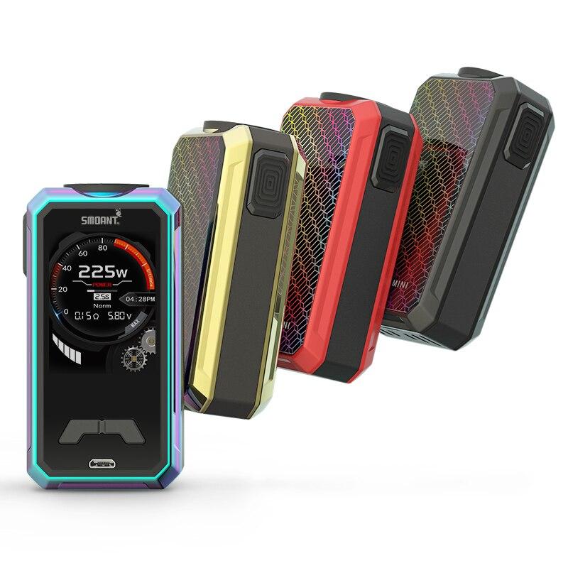 все цены на Original Smoant Charon Mini Box Mod 225W Vape electronic cigarettes Dual 18650 Battery fit 510 thread VS smoant cylon онлайн