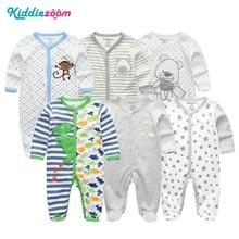 Bebé Recién Nacido / Niños Mamelucos Ropa Trajes de Verano Traje de Algodón 3-12 Meses Roupas de bebe Pijama Ropa