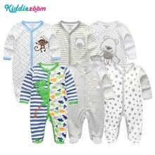 Nyfödda Baby Girl / Boys Rompers Kläder Sommar Jumpsuits Kostym Bomull 3-12Months Roupas de Bebe Pyjamas Kläder