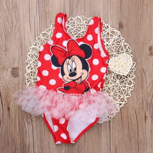 New Toddler Girls Swimwear Cartoon 2 Choices Kids Bikini Sets Summer Children Swimsuit Baby Girls Tankini Swimwear