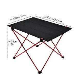 Image 4 - VILEAD Mesa de acampada portátil, mesa de aluminio plegable, resistente al agua, para exteriores, senderismo y playa, 57x42x38 cm, 6061