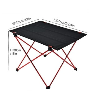 Image 4 - VILEAD Portable Camping Table 57*42*38 cm 6061 Aluminium Folding Durable Tourist BBQ Outdoor Hiking Beach Waterproof Table