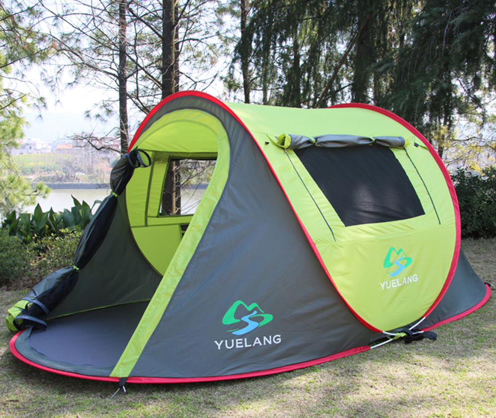 New Arrival 3-4 Person Pop Up Beach Tent Sun Shelter Barraca Park Tent For Playing Camping Tent otomatik çadır
