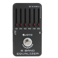 6 Bands EQ Equalizer Electric Guitar Effects Pedal Stompbox Adjust Low Middle High With One MOOER