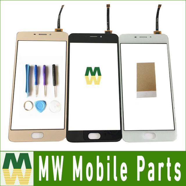 "1PC/ Lot Black & White & Gold Color Top Quality For Meizu M5 note M621Q 5.5"" Touch Screen Digitizer  With Tools &Tape"