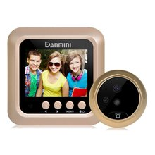 цены Danmini W5 2.4inch Door Security Digital Color Screen No Disturb Peephole Intelligent Door Viewer 2 MP Support Max 32G TF Card