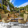 Custom 3D Photo Wallpaper Waterfall Landscape Large Mural Wallpaper For Living Room Background Wall Covering Papel