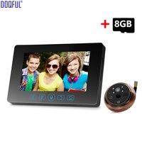 4,3 дюймов 3.0MP видео дверной звонок Камера монитор 160 градусов дверной глазок дверной звонок Главная Безопасность 8 ГБ SD карты запись