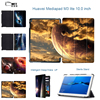 MTT For Huawei MediaPad M 3 Lite Tri Fold Cosmic Space Leather Smart Tablet Case For
