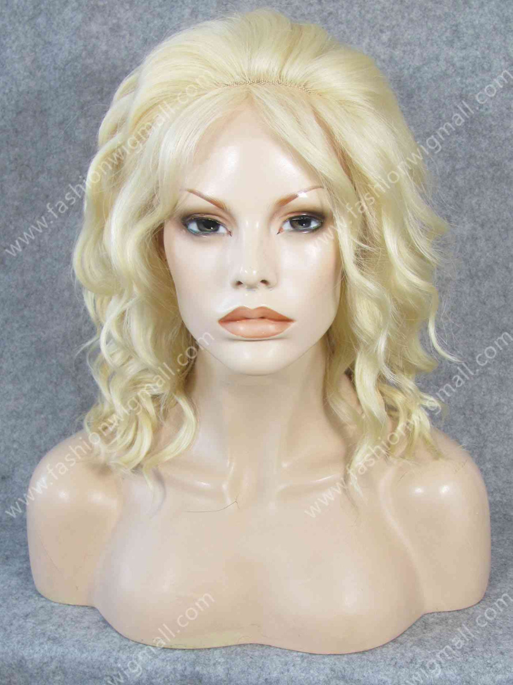 #613 Fashion Heavy Density Lace Front Heat Safe Fiber Blonde Chic Short Fashion Lady Wig W17