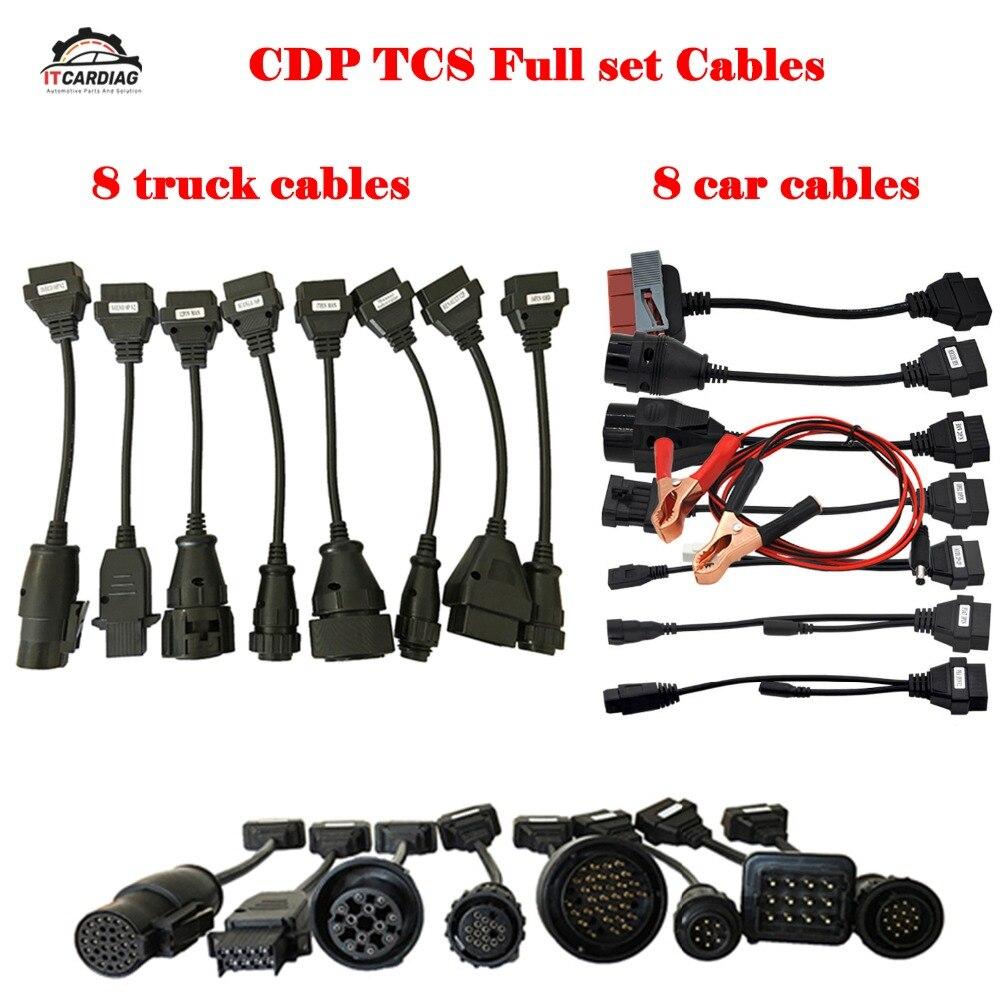 Für Delphi Ds150e 2019 Vollen Satz 8 Lkw Kabel 8 Auto Kabel OBD2 Diagnose Werkzeug OBDII OBD 2 Verbinden Kabel