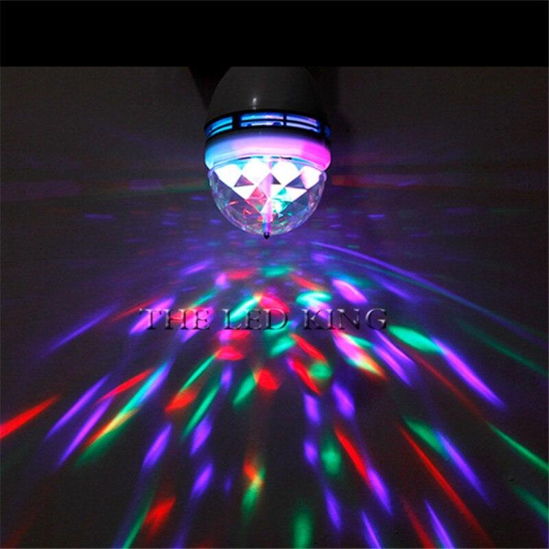 Led RGB Mini Stage Light E27 AC 85-265V Magic Crystal Ball Lamp 9W Laser Light 220V 110V Christmas Dance Party Lantern Projector(China)