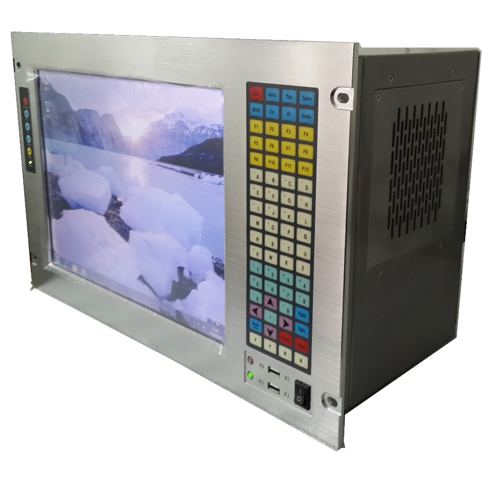 """19"""" 7U Rack Mount Industrial Workstation, 15"""" LCD, with touchscreen, Core P7550 CPU ,GM45 chipset, 2GB RAM, 320GB HDD"""