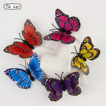 TIE LER Hot 12 PCS 3D Wall Stickers Butterfly Fridge Magnet Wedding Decoration Home Decor(China)