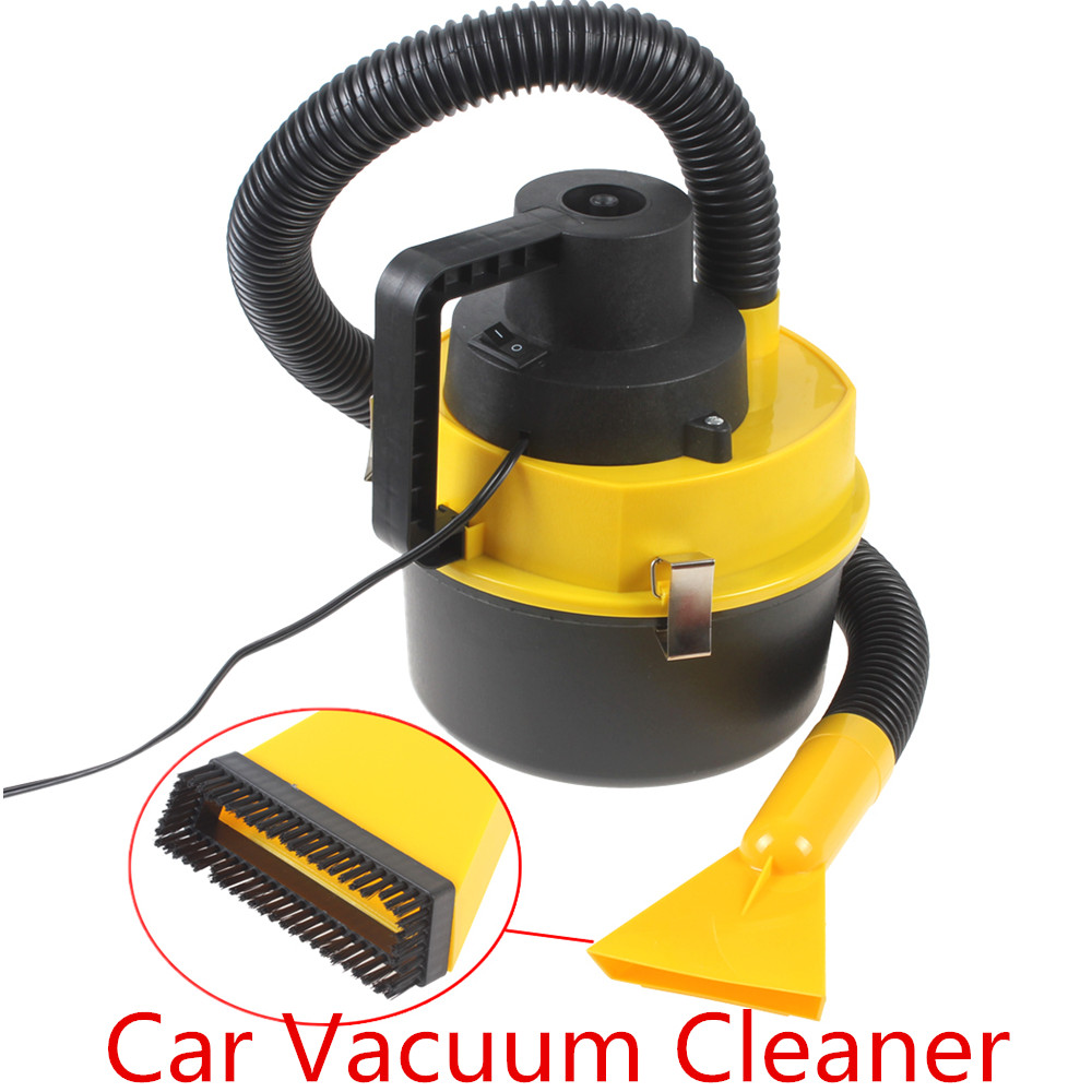 frees shipping Car Vacuum Cleaner Handheld Mini Car Dust Vacuum Cleaner with Brush / Crevice / Nozzle Head Portable Wet and Dry