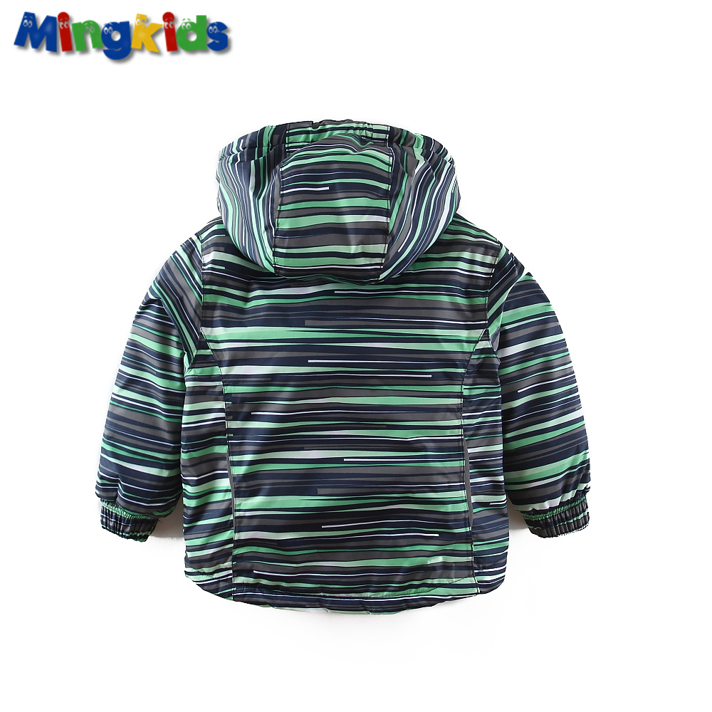 Mingkids Outdoor thermal green jacket Waterproof Windproof coat for boys fleece spring autumn European Size German quality in Jackets Coats from Mother Kids