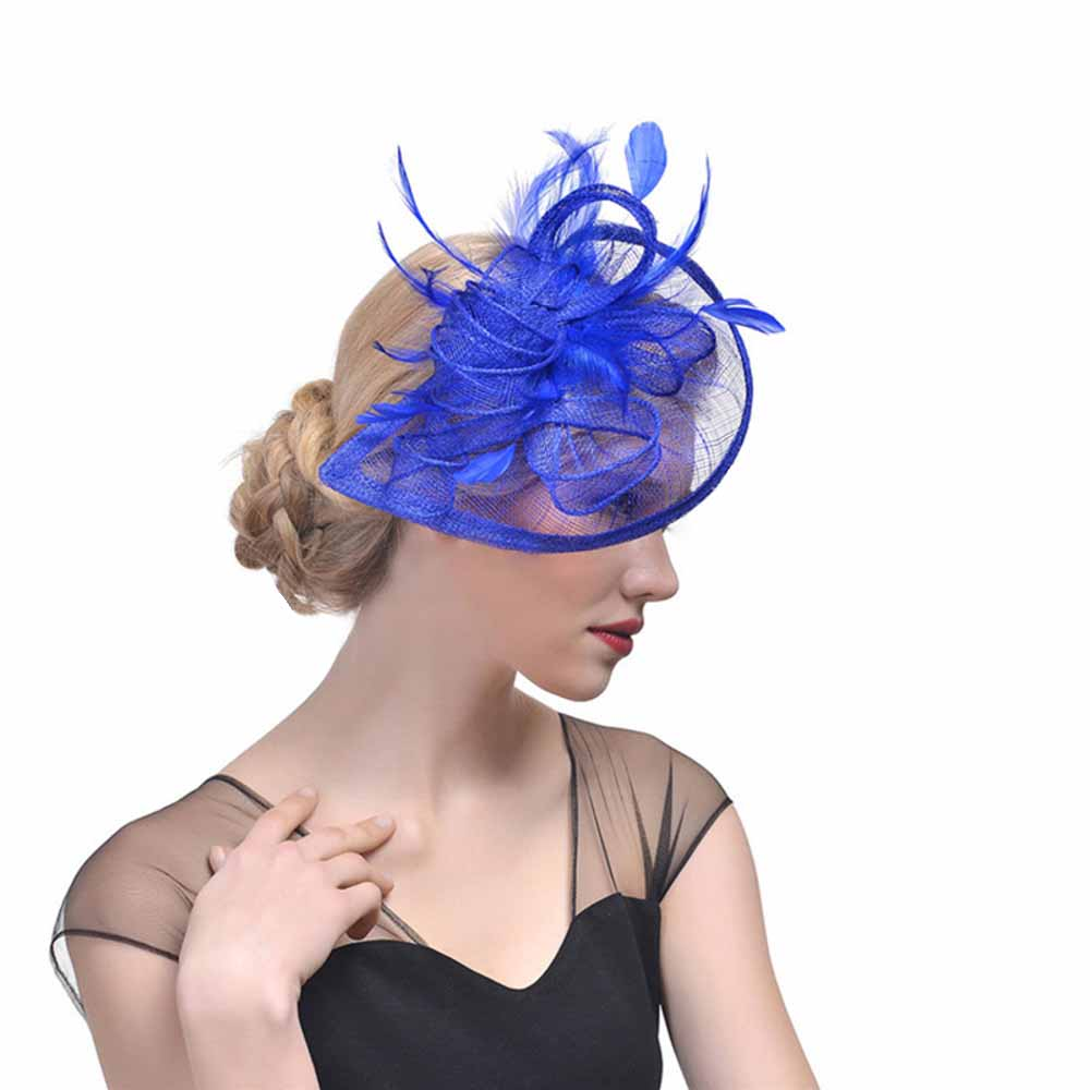 Large Headband and Clip Hat Black /& Red Fascinator Weddings Race Royal Ascot