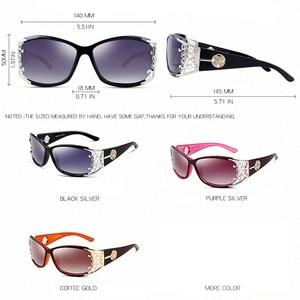 Image 2 - PARZIN Luxury Sunglasses Women Designer Vintage Polarized Ladies Sun Glasses For Women Hollow Lace Female Glasses For Driving