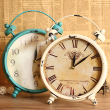 Fashion american vintage iron clock fashion silent watch rustic decoration clock
