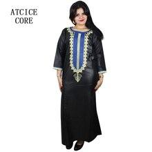 Afrikanische kleider für frau weichen material stickerei design kleid LA029