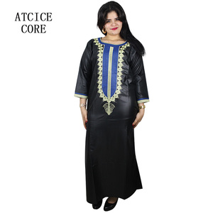 Image 1 - african dresses for woman soft material embroidery design dress LA029