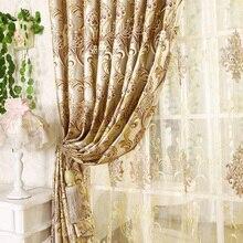 Jacquard de moda de calidad de lujo cortina de la sala de estar envío libre