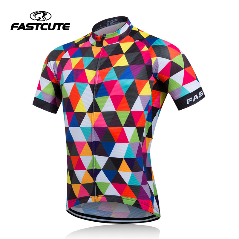Cycling Jersey Bike-Wear Short-Sleeve Man's-Bicycle Ciclismo Breathable FASTCUTE