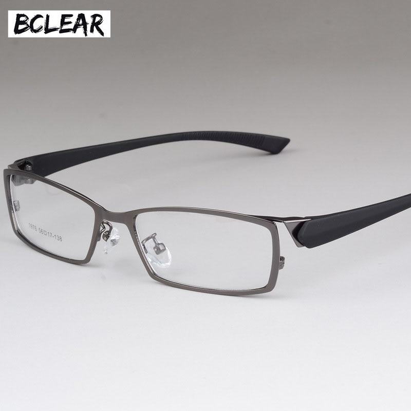 BCLEAR New Style Men Eyeglasses Frame High-end Business Male Eye Metal Spectacle Frames Comfortable Men's Myopia Frame Glasses
