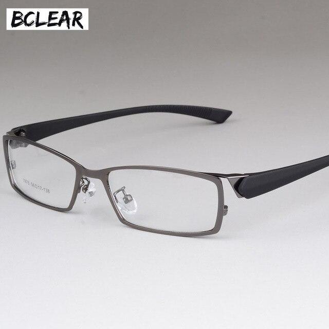 BCLEAR Novos Homens Óculos de Armação de Estilo High-end de Negócios  Masculino Olho Armações De óculos de Metal Quadro Miopia dos homens  Confortáveis ... a6c6dbd6d1