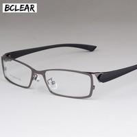 BCLEAR Nouveau style hommes lunettes cadre Haut de gamme d'affaires hommes de métal oeil montures de lunettes confortable hommes de myopie cadre lunettes