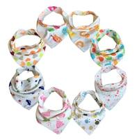 Free shipping 10pc lot baby bibs 100 cotton triangle head scarf boy kerchief girl babador bandana.jpg 200x200