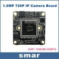 1.0 MegaPixel CMOS ONVIF câmera IP módulo NX4C100 720 P câmera IP Board Via Chip Hi3518E