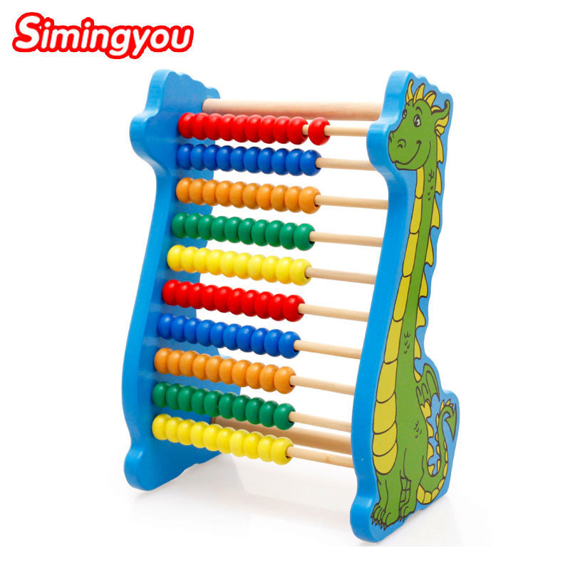 Simingyou Learning Education Dinosaur Counting Beads Maths Learning Educational Toys A50-3058 Drop Shipping