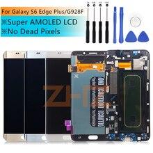 Do Samsung Galaxy S6 krawędzi Plus G928 G928F dotykowy wyświetlacz LCD zamienny moduł ekranu części dla 5.7 instrukcji obsługi SAMSUNG S6 krawędzi Plus LCD