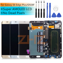 "For Samsung Galaxy S6 Edge Plus G928 G928F LCD Display Touch Screen Assembly Replacement Parts For 5.7"" SAMSUNG S6 Edge Plus LCD(China)"