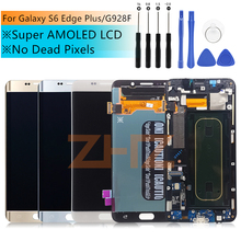 """Para Samsung Galaxy S6 Edge Plus G928 G928F pantalla LCD recambio de conjunto de pantalla táctil de 5,7 """"SAMSUNG S6 Edge Plus LCD"""