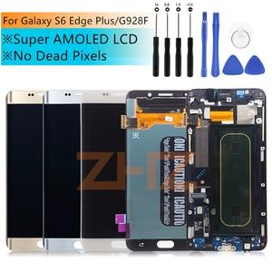 """Image 1 - ЖК дисплей для Samsung Galaxy S6 Edge Plus G928 G928F, сенсорный экран в сборе, сменные детали для 5,7 """"SAMSUNG S6 Edge Plus, ЖК дисплей"""