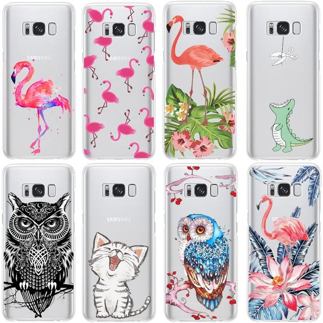 Flamingo Print Case for Samsung Galaxy S6 S5 S4 S7 Edge S8 Plus J1 J2 J3 J5 J7 A3 A5 2015 2016 2017 Case Core Grand Prime Note 8