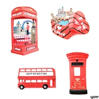 3D Resin Fridge Magnet London Tourist Souvenir Gift Refrigerator Magnetic Decals Sticker DIY Home Decoration Jun14