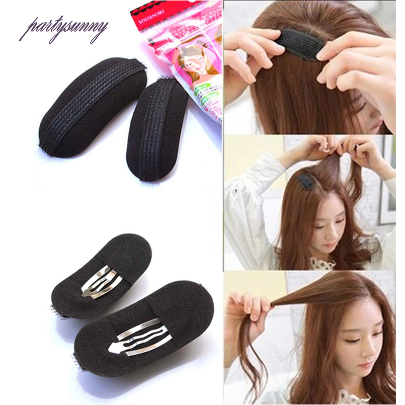 PF Fluffy Crescent Clip Bangs Barrettes Paste Root Hair Hairpin Increased Hair Heighten Tools For Girls Women Accessories TS1278