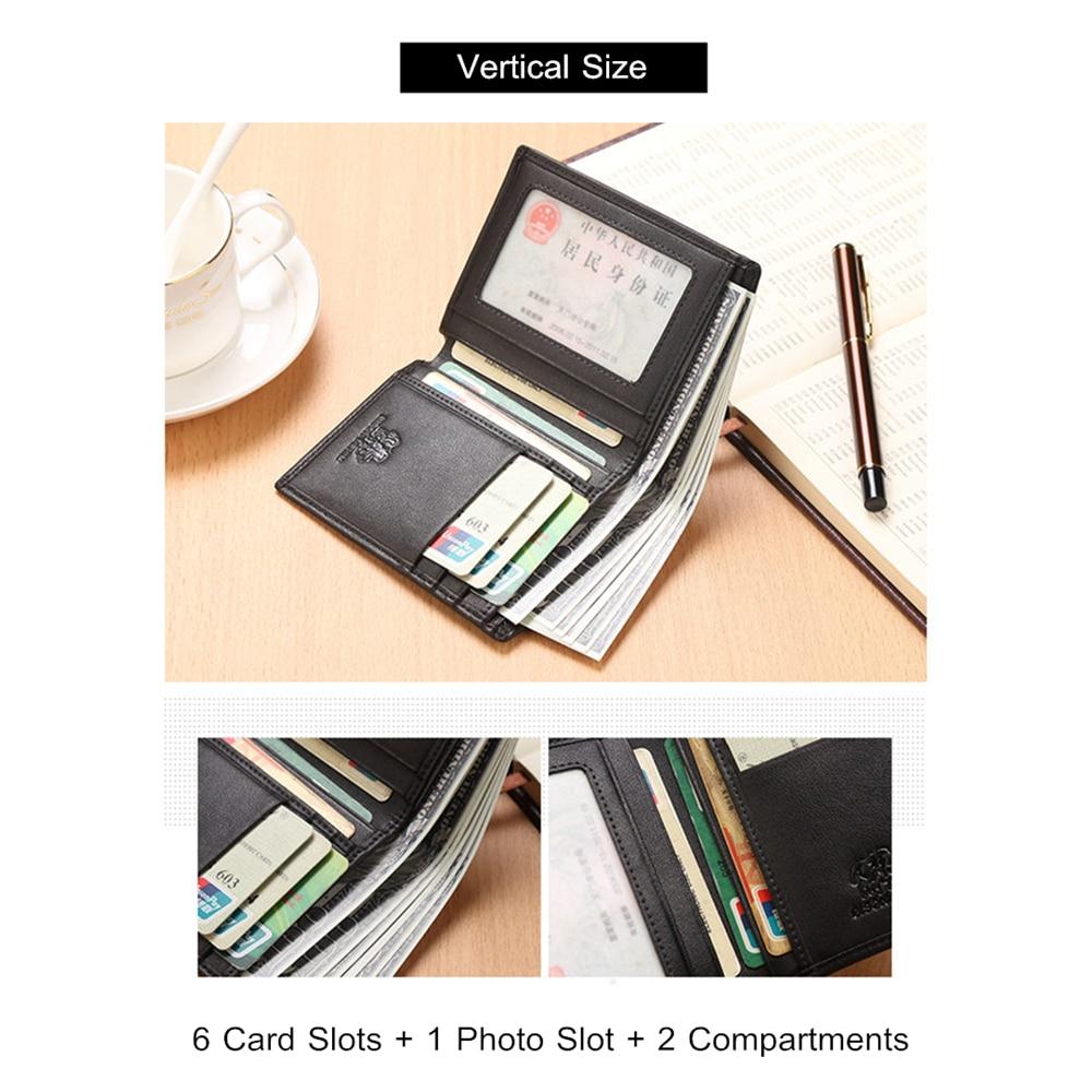Slim Men Genuine Leather Bifold Wallet Purse Business ID Credit Card Holder Gift